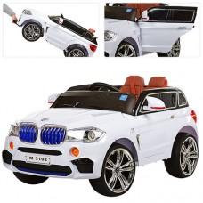 Детский электромобиль Джип Bambi M 3102 (MP4) EBLR-1 BMW X5, белый