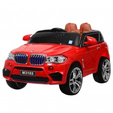 Детский электромобиль Джип Bambi M 3102 (MP4) EBLR-3 BMW X5, красный