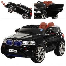 Детский электромобиль Джип Bambi M 3102 (MP4) EBLRS-2 BMW X5, черный