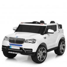 Детский электромобиль Джип Bambi M 3107 EBLR-1 BMW, двухместный, белый