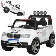 Детский электромобиль Джип Bambi M 3118 EBLR-1 BMW, двухместный, белый
