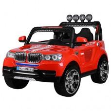 Детский электромобиль Джип Bambi M 3118 EBLR-3 BMW, двухместный, красный