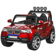 Детский электромобиль Джип Bambi M 3118 EBLRS-3 BMW, двухместный, красный