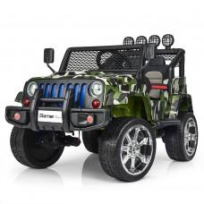 Детский электромобиль Джип Bambi M 3237 EBLR-18 Jeep, камуфляж