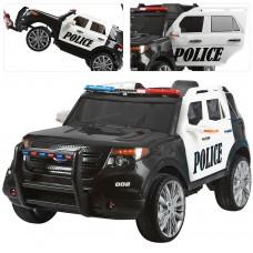 Детский электромобиль Джип Bambi M 3259 EBLR-1 Police, черно-белый