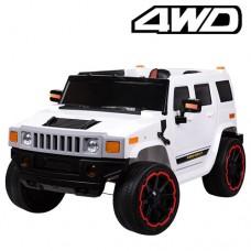 Детский электромобиль Джип Bambi M 3280 EBLR-1 Hummer, белый