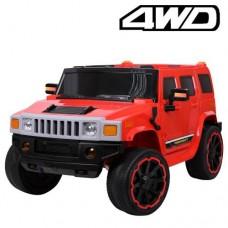 Детский электромобиль Джип Bambi M 3280 EBLR-3 Hummer, красный