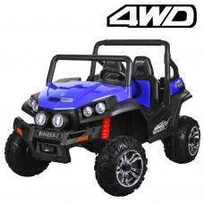 Детский электромобиль Джип Bambi M 3454 EBLR-4 Багги, двухместный, синий