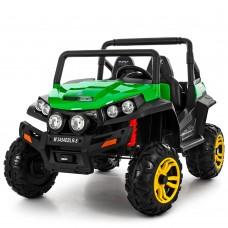 Детский электромобиль Джип Bambi M 3454 EBLR-5 Багги, двухместный, зеленый