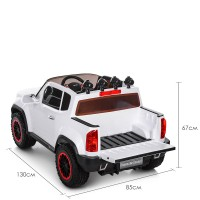 Детский электромобиль Джип Bambi M 3460 EBLR-1 Chevrolet Colorado, белый