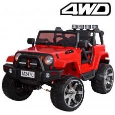 Детский электромобиль Джип Bambi M 3470 4WD EBLR-3 Багги, красный