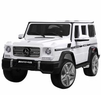 Детский электромобиль Джип Bambi M 3567 EBLR-1 Гелендваген Mercedes G65 VIP, белый
