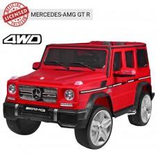 Детский электромобиль Джип Bambi M 3567 4WD EBLRM-3 Mercedes G65 VIP, красный