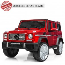 Детский электромобиль Джип Bambi M 3567 EBLRS-3 Гелендваген Mercedes G65 VIP, красный