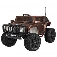 Детский электромобиль Джип Bambi M 3570 EBLRS-17 Hummer, коричневый