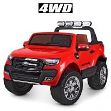 Детский электромобиль Джип Bambi M 3573 EBLR-3 Ford Ranger, двухместный, красный