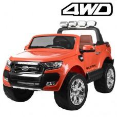 Детский электромобиль Джип Bambi M 3573 EBLR-7 Ford Ranger, двухместный, оранжевый