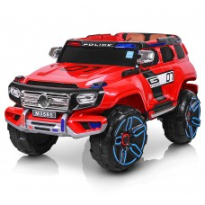 Детский электромобиль Джип Bambi M 3585 EBLR-3 Mercedes Police, красный