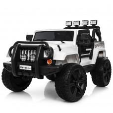 Детский электромобиль Джип Bambi M 3824 EBLR-1 Jeep, белый