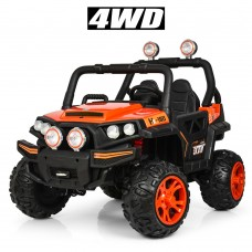 Детский электромобиль Джип Bambi M 3825 EBLR-7 Багги, двухместный, оранжевый