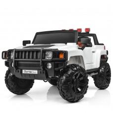 Детский электромобиль Джип Bambi M 3830 EBLR-1 Hummer, двухместный, белый