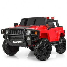 Детский электромобиль Джип Bambi M 3830 EBLR-3 Hummer, двухместный, красный