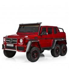 Детский электромобиль Джип Bambi M 3971 EBLRS-3 Mercedes, двухместный, красный