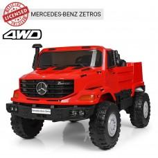 Детский электромобиль Джип Bambi M 3990 EBLR-3 Mercedes, двухместный, красный