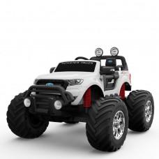 Детский электромобиль Джип Bambi M 4013 EBLR-1 Ford Ranger (Monster Truck), белый
