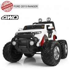 Детский электромобиль Джип Bambi M 4013 (MP4) EBLR-1 Ford Ranger (Monster Truck), белый