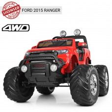 Детский электромобиль Джип Bambi M 4013 (MP4) EBLR-3 Ford Ranger (Monster Truck), красный