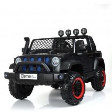 Детский электромобиль Джип Bambi M 4061 EBLR-2 4WD Jeep, двухместный, черный