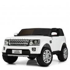 Детский электромобиль Джип Bambi M 4063 EBLR-1 Land Rover, двухместный, белый