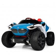 Детский электромобиль Джип Bambi M 4064 EBLR-4 4WD BMW, бело-синий