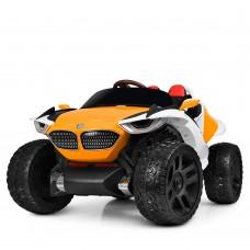 Детский электромобиль Джип Bambi M 4064 EBLR-7 4WD BMW, бело-оранжевый