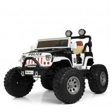 Детский электромобиль Джип Bambi M 4077 EBLR-2-1 Багги, двухместный, черно-белый