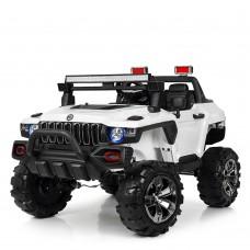 Детский электромобиль Джип Bambi M 4107 EBLR-1 Jeep, двухместный, белый