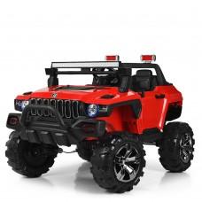 Детский электромобиль Джип Bambi M 4107 EBLR-3 Jeep, двухместный, красный