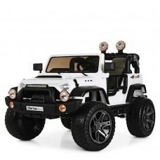 Детский электромобиль Джип Bambi M 4111 EBLR-1 Jeep, двухместный, белый