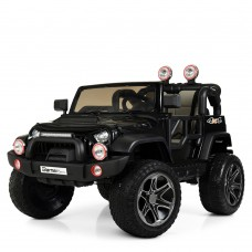 Детский электромобиль Джип Bambi M 4111 EBLR-2 Jeep, двухместный, черный