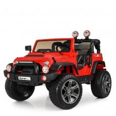 Детский электромобиль Джип Bambi M 4111 EBLR-3 Jeep, двухместный, красный