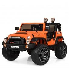 Детский электромобиль Джип Bambi M 4111 EBLR-7 Jeep, двухместный, оранжевый