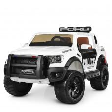 Детский электромобиль Джип Bambi M 4173 EBLR-1 Ford Police, белый