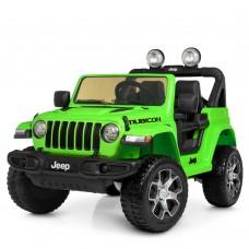 Детский электромобиль Джип Bambi M 4176 EBLR-5 Jeep, зеленый