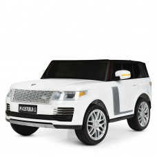 Детский электромобиль Джип Bambi M 4197 EBLR-1 Land Rover, двухместный, белый