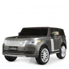 Детский электромобиль Джип Bambi M 4197 EBLRS-11 Land Rover, двухместный, серый
