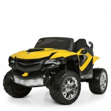 Детский электромобиль Джип Bambi M 4201 EBLR-6 Ford Ranger (Monster Truck), желтый