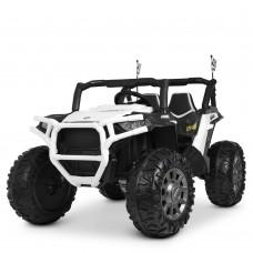 Детский электромобиль Джип Bambi M 4248 EBLR-1 Jeep, двухместный, белый
