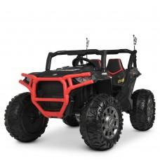 Детский электромобиль Джип Bambi M 4248 EBLR-2-3 Jeep, двухместный, красно-черный