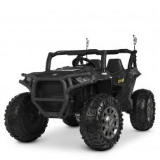Детский электромобиль Джип Bambi M 4248 EBLR-2 Jeep, двухместный, черный